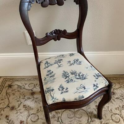 Antique Ballon Back Style Side Chair