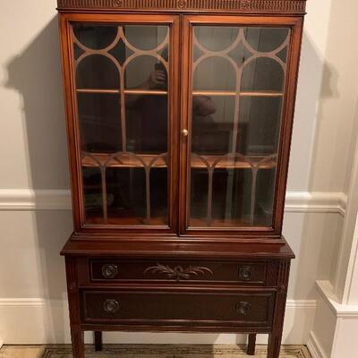 Beautiful Antique Cabinet with added Light