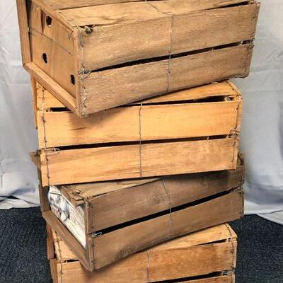 4 Wood Vegetable Crates LOCAL PICKUP ONLY