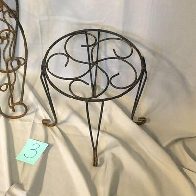 2 Small Metal Plant Stands LOCAL PICKUP ONLY