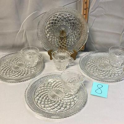 Anchor Hocking Wexford Snack Sets