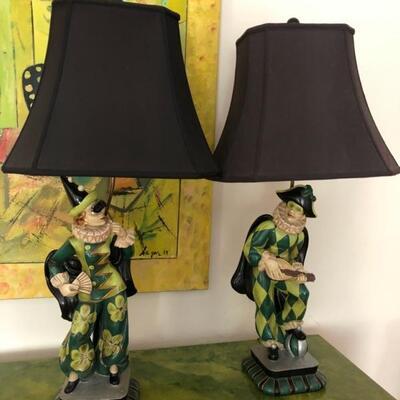 Lamps Harlequin stunning, unique $450