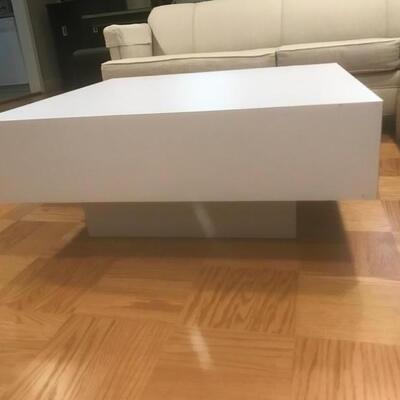 Melamine Square MidCentury Modern Coffee Table 36