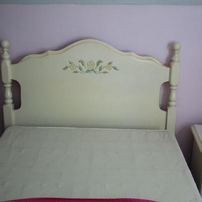 Vintage Twin Trundle Bed with New Mattresses