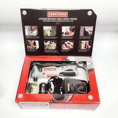 CRAFTSMANM LITHIUM-ION RIGHT ANGLE IMPACT DRIVER - NEW