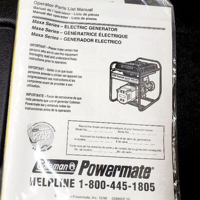 COLEMAN POWERMATE MAXA 5000 ER GENERATOR *NEW*