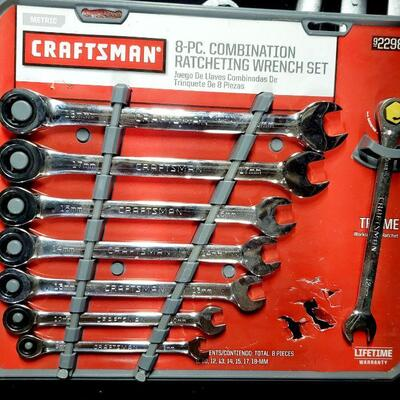 CRAFTSMAN 8PC COMBINATION RATCHING WRENCH SET *NEW*