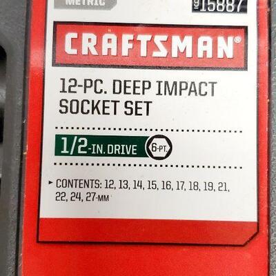 CRAFTSMAN 12 PC DEEP IMPACT SOCKET SET *NEW*