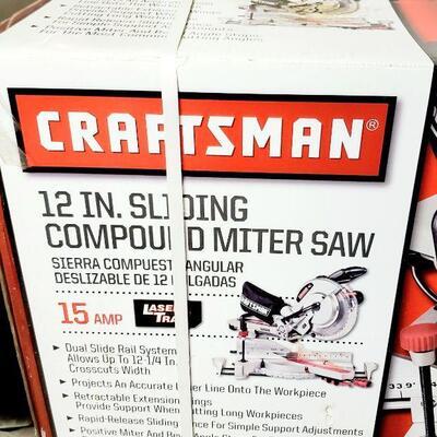 CRAFTSMAN 12 IN. SLIDING COMPOUND MITER SAW *NEW*
