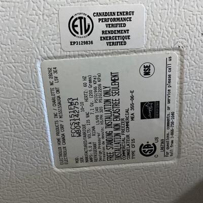 Frigidaire Commercial Freezer