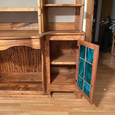 Custom Solid Wood Wall Unit (Multi Uses)
