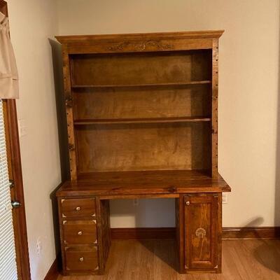 Solid Wood Wall Desk Unit