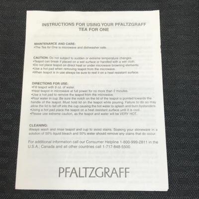 "Pfaltzgraff® ""Tea for One"" Teapot & Cup Set"