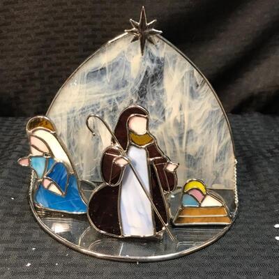Welcome Home™ Glass Nativity Candle Holders NIB