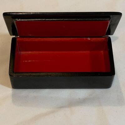 Signed Russian lacquer trinket Box