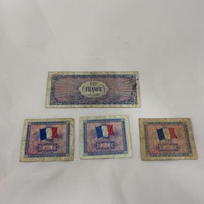 .11. WW2 French Francs