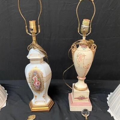 LOT#7: Pair of Painted Lamps
