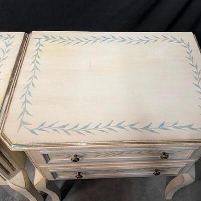 LOT#17: Pair of Matching Painted Night Tables