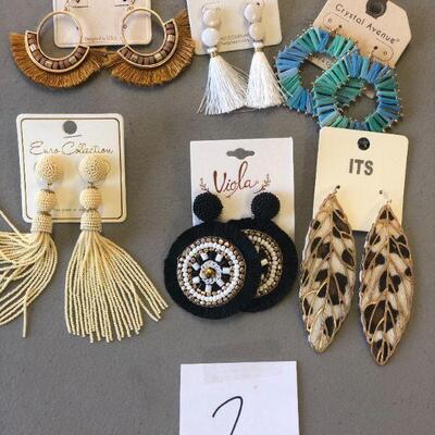 Lot 2 Six Pairs of NWT Earrings #1
