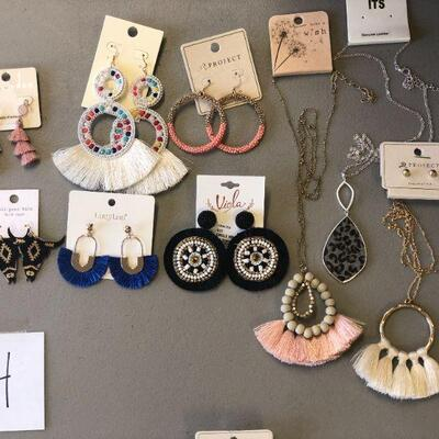 Lot 4 Six Pairs of NWT Earrings & Three Necklaces