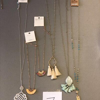 Lot 7 Six NWT Necklaces #2