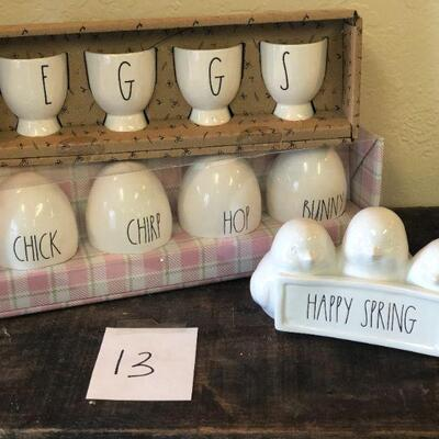 Lot 13 Rae Dunn Easter Pieces #1
