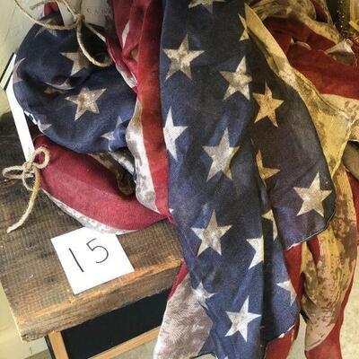Lot 15 USA/American Flag Scarves - 5 Pcs.