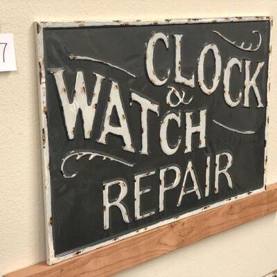 Lot 27 XL NWT Clock & Watch Repair Embossed Sign
