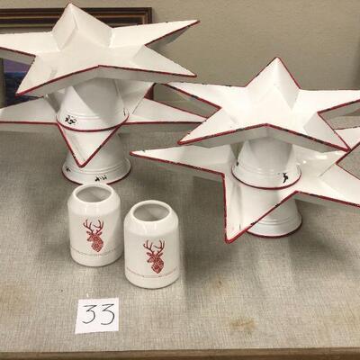 Lot 33 Star Serving Dish/Display Christmas