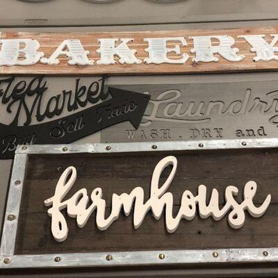 Lot 40 NWT Farmhouse, Bakery, Flea Market, Laundry Signs