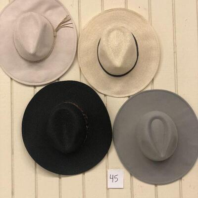 Lot 45 Four Fashion Hats #1