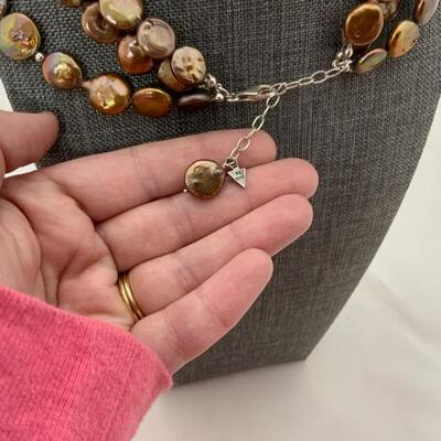 .13. Three-Strand Freshwater Pearl Necklace