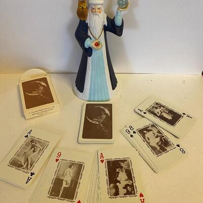 Wizard and cards