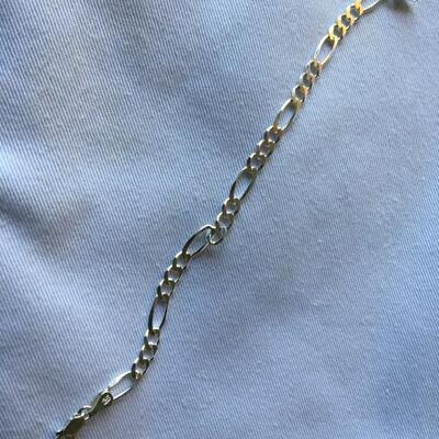 "Sterling Heavy Link Chain 7"" Bracelet 6 grams"