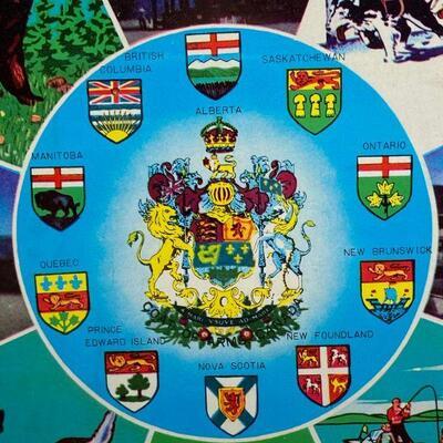 Vintage Painted Metal Souvenir of Canada Plate YD#011-1120-00202