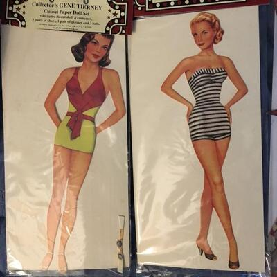 Collection of 12 Vintage Paper Doll Sets