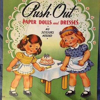 Collection of 10 Vintage Paper Doll Sets
