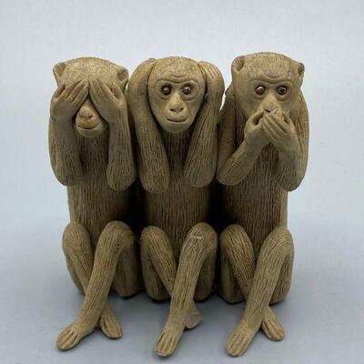 See No Evil, Hear No Evil, Speak No Evil Monkey Figurine YD#011-1120-00056