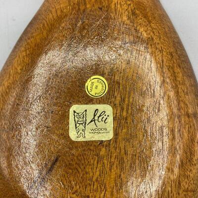Retro Pineapple Shaped Monkey Pod Wood Divided Dish YD#011-1120-00204