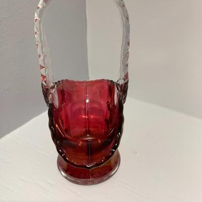 Westmoreland Glass Basket
