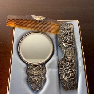 1940's Silver plate Hans and Jensen set in original box