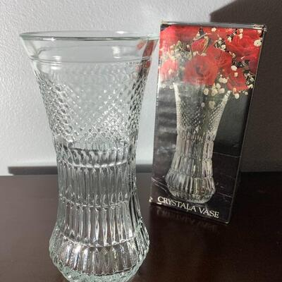 Crystal vase with box. Never used