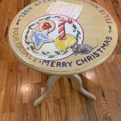 Santa Table for cookies.