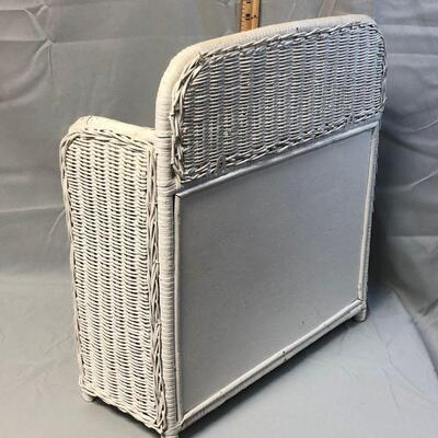 White Wicker Cabinet LOCAL PICKUP ONLY