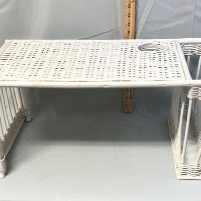 White Wicker Bed Tray LOCAL PICKUP ONLY