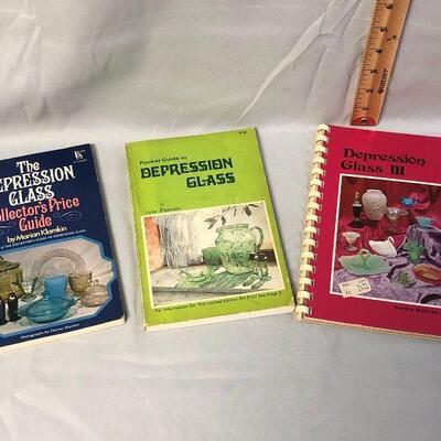3 Vintage Depression Glass Guides