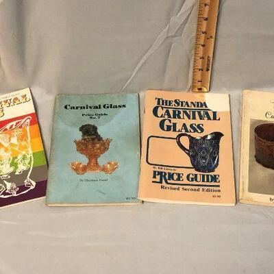 4 Vintage Carnival Glass Guides
