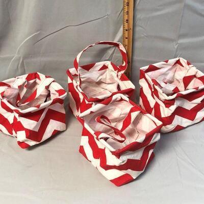 4 Chevron Red Buckhead Betties Bags