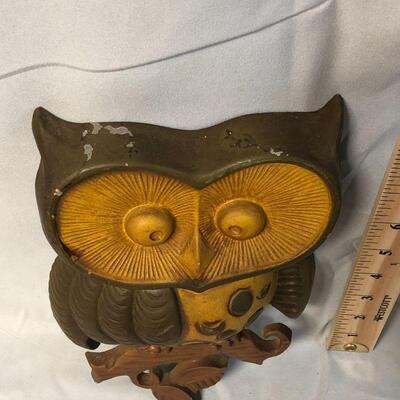 2 Sexton USA 1970 Metal Owl Wall Hangings