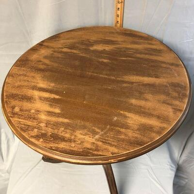 Round Top Solid Wood Side Table  LOCAL PICKUP ONLY
